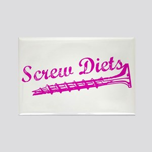 Screw Diets Rectangle Magnet